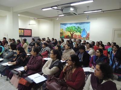 Cyber awareness to teachers at  a Delhi School