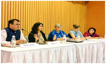 FIRE represented at an expert panel discussion on crimes against women , Delhi, 2017